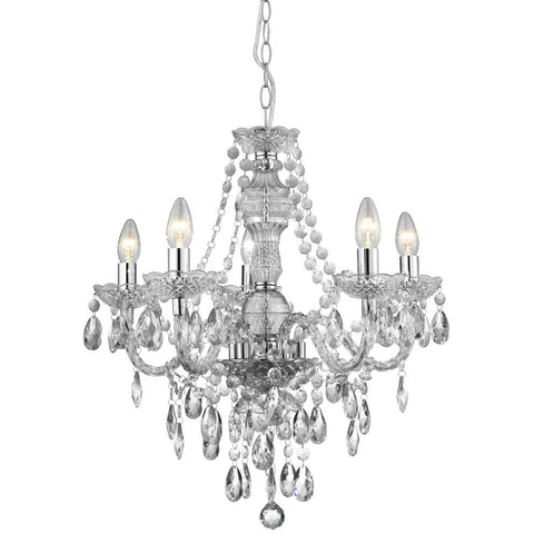 Marco Tielle 5-Light Marie Therese Chandelier Ceiling Light 8885-5, [product_variation] - Freedom Homestore