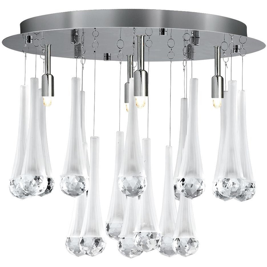 CLEARANCE- Searchlight 8944-4CC 'Alexia' Chrome 4 Light Frosted Cone-Crystal, [product_variation] - Freedom Homestore