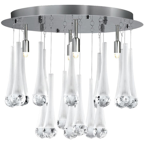 CLEARANCE- Searchlight 8944-4CC 'Alexia' Chrome 4 Light Frosted Cone-Crystal