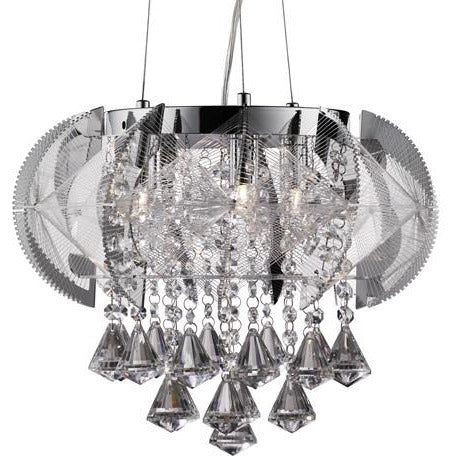 "Searchlight ""Fountaine"" Crystal Chandelier Celing Pendant Light 8993-3CC, [product_variation] - Freedom Homestore"