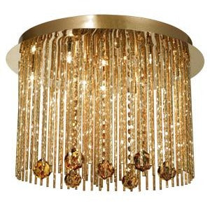 Searchlight Beatrix 9-light Gold Crystal Chandelier Ceiling Light 9099-9go