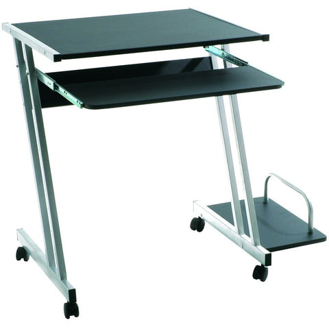 Black Glass or Wood Z-Shape PC Computer Desk Table, [product_variation] - Freedom Homestore