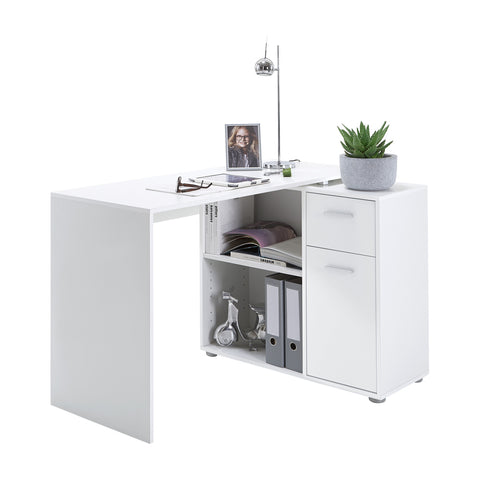 """Albrecht"" Reversible L-Shape Corner Desk (or Flat Fit) PC Table. Mega Range"
