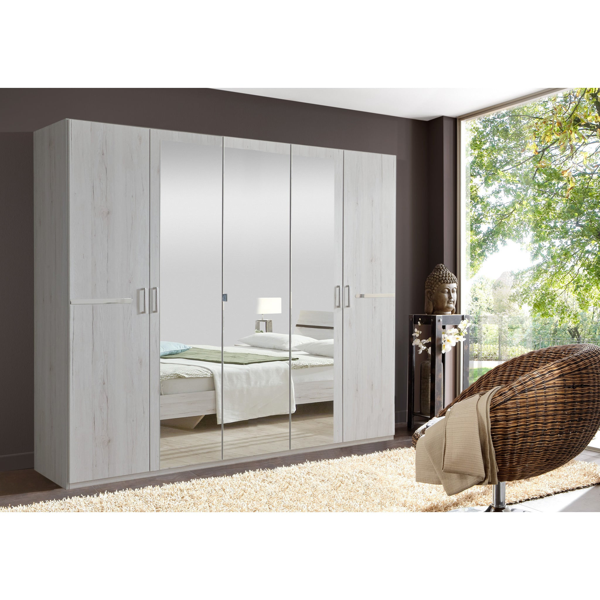 Oak And White Bedroom Furniture Qmax City Range German Made Bedroom Furniture White Oak Freedom