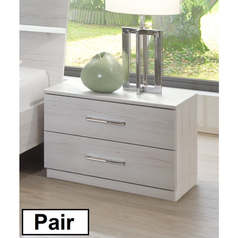 ASSEMBLY INCLUDED Qmax 'City' Range. German Bedroom Furniture. White Oak Finish, [product_variation] - Freedom Homestore