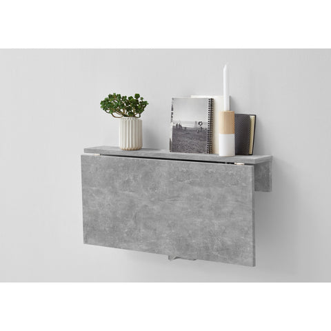 """Arta"" Folding Wall Desk / Shelf Storage, Hallway Phone Table, Stone Finish., [product_variation] - Freedom Homestore"