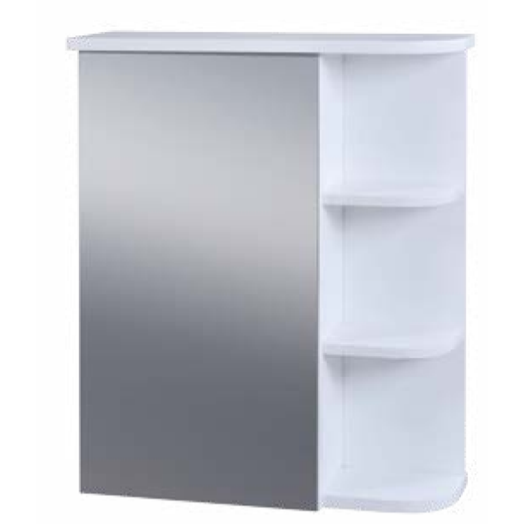 Blue Canyon Turin Bf0667 Bathroom Mirror Cabinet W Shelves In White Freedom Homestore