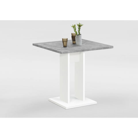 """Bandol-1"" Bistro / Cafe / Kitchen Dining Table, White & Stone Finish."