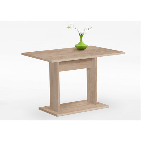 """Bandol-2"" Bistro / Cafe / Kitchen Dining Table, Washed Oak Finish."