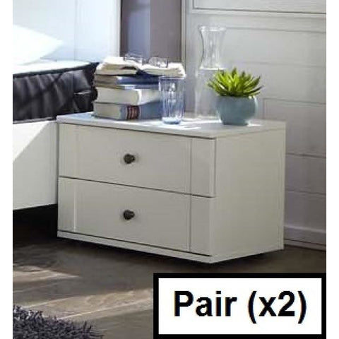 Qmax 'Country' Range. German Made Bedroom Furniture. White Shaker Inspired Style, [product_variation] - Freedom Homestore