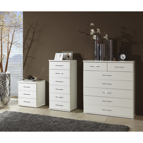 "Qmax ""Bling"" Drawer Chest Range. German Made Bedroom Furniture"