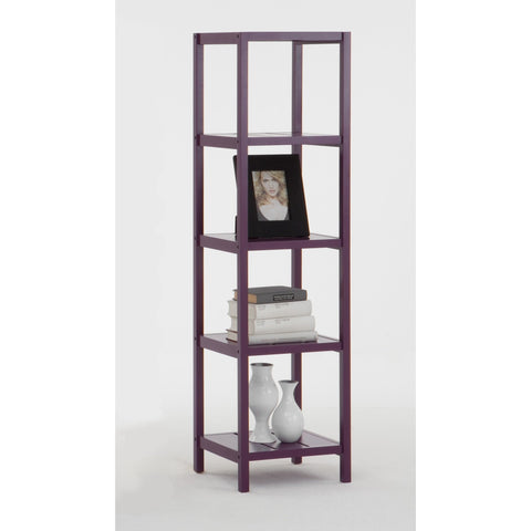 *Clearance* BOB-5 Purple Tall Display Shelving Table. Bathroom Shelf Unit.