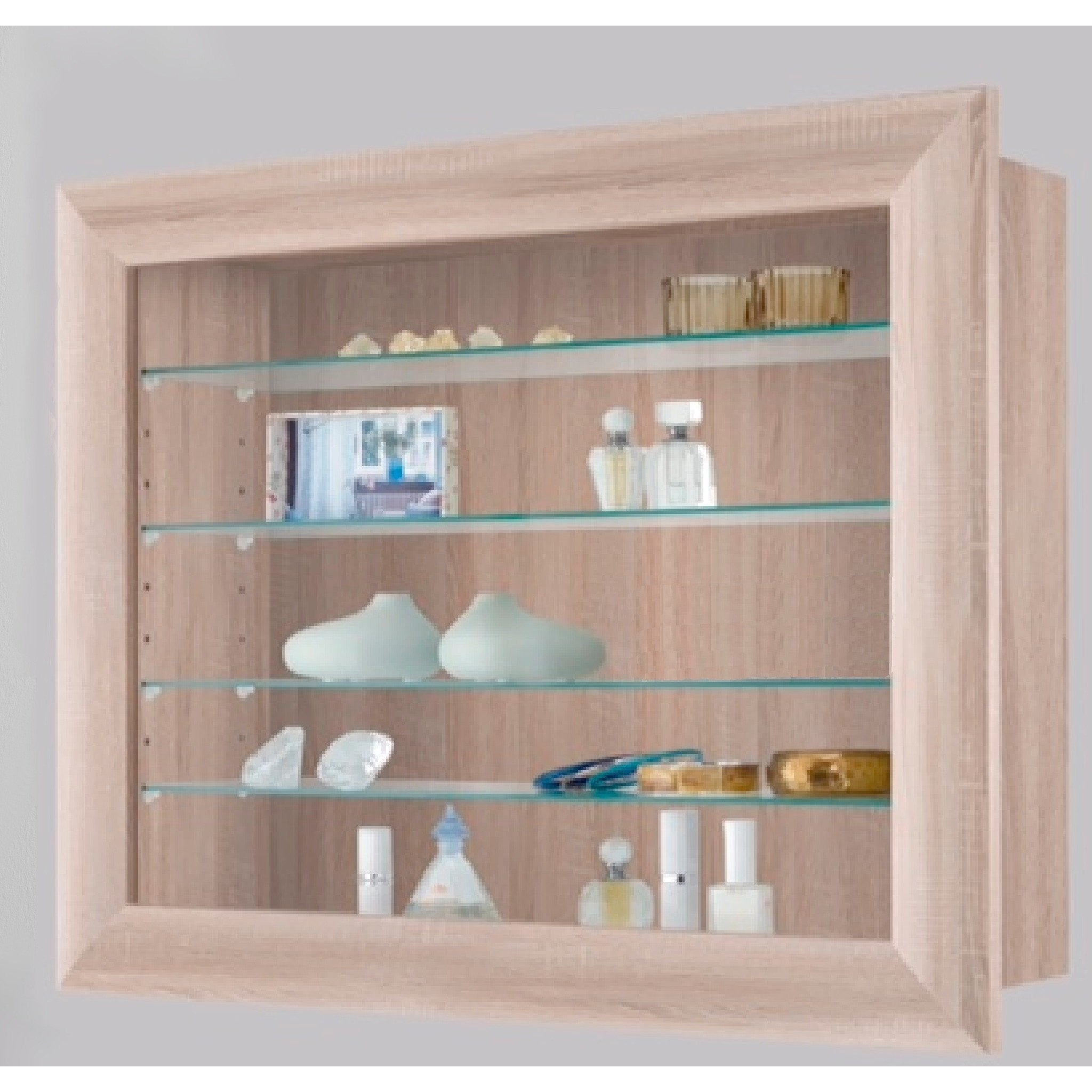 Bora-10 Wall Mounted Display Cabinet Shelving. Ideal for ...