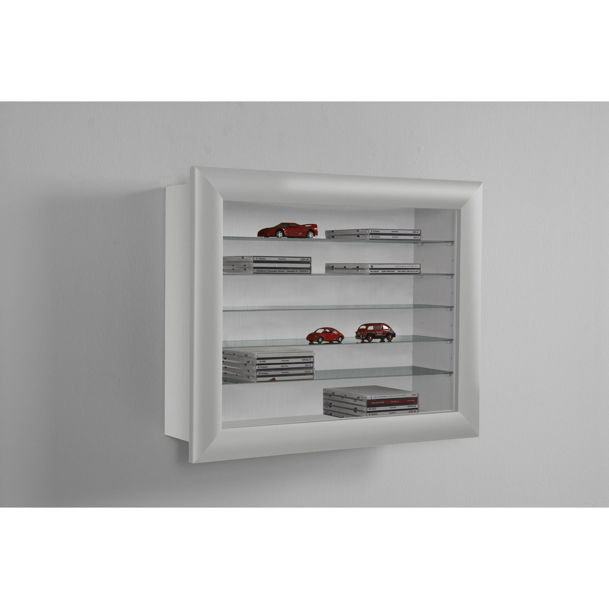 Bora 10 Wall Mounted Display Cabinet Shelving. Ideal For Collectibles.,  [product_variation