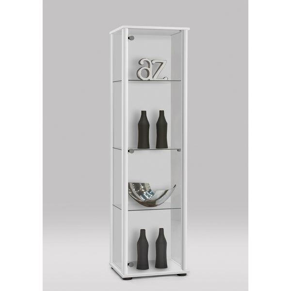 Bora Floor Standing Glass & Wood Display Cabinet