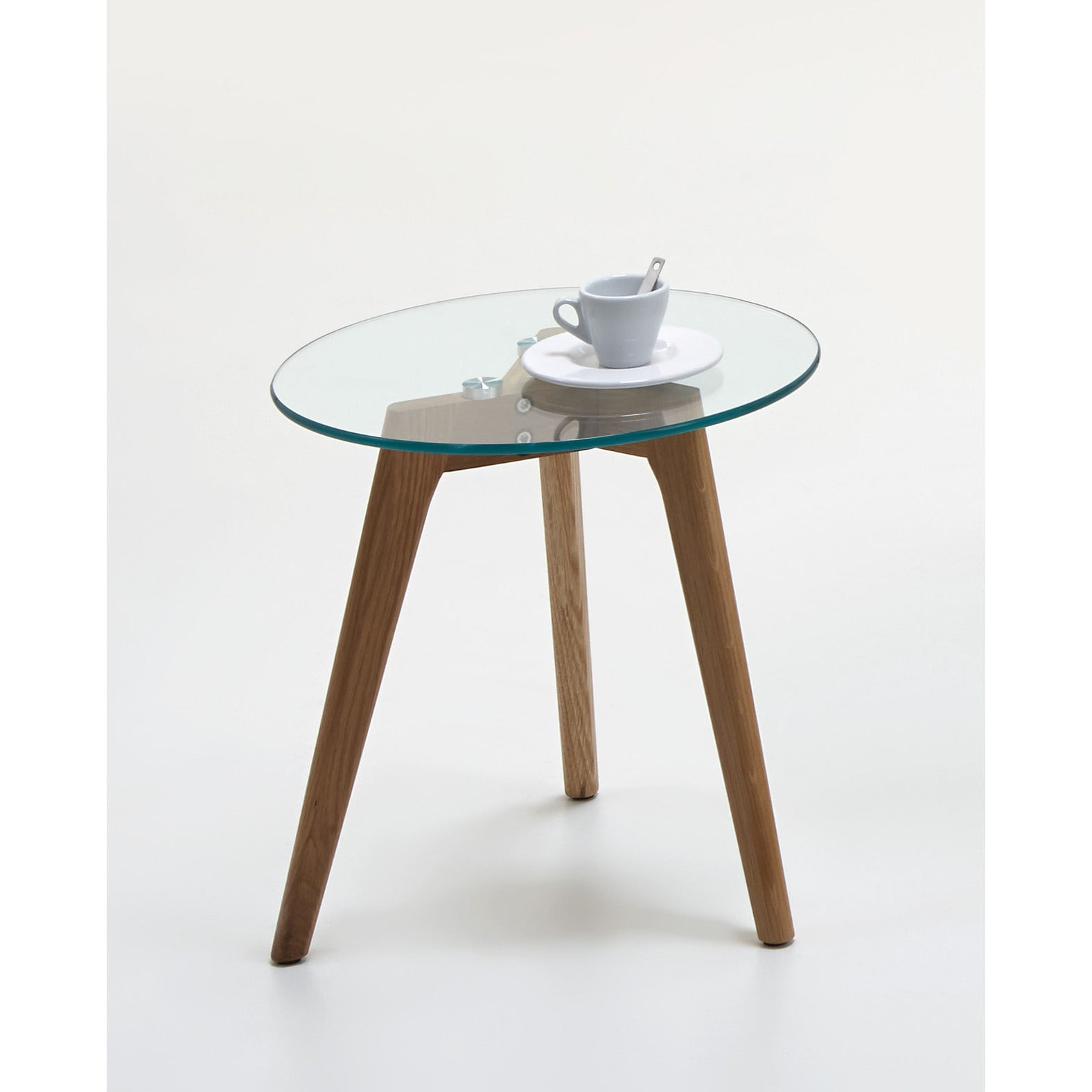 "California"" Scandinavian Style Coffee & End Table Glass & Wood"