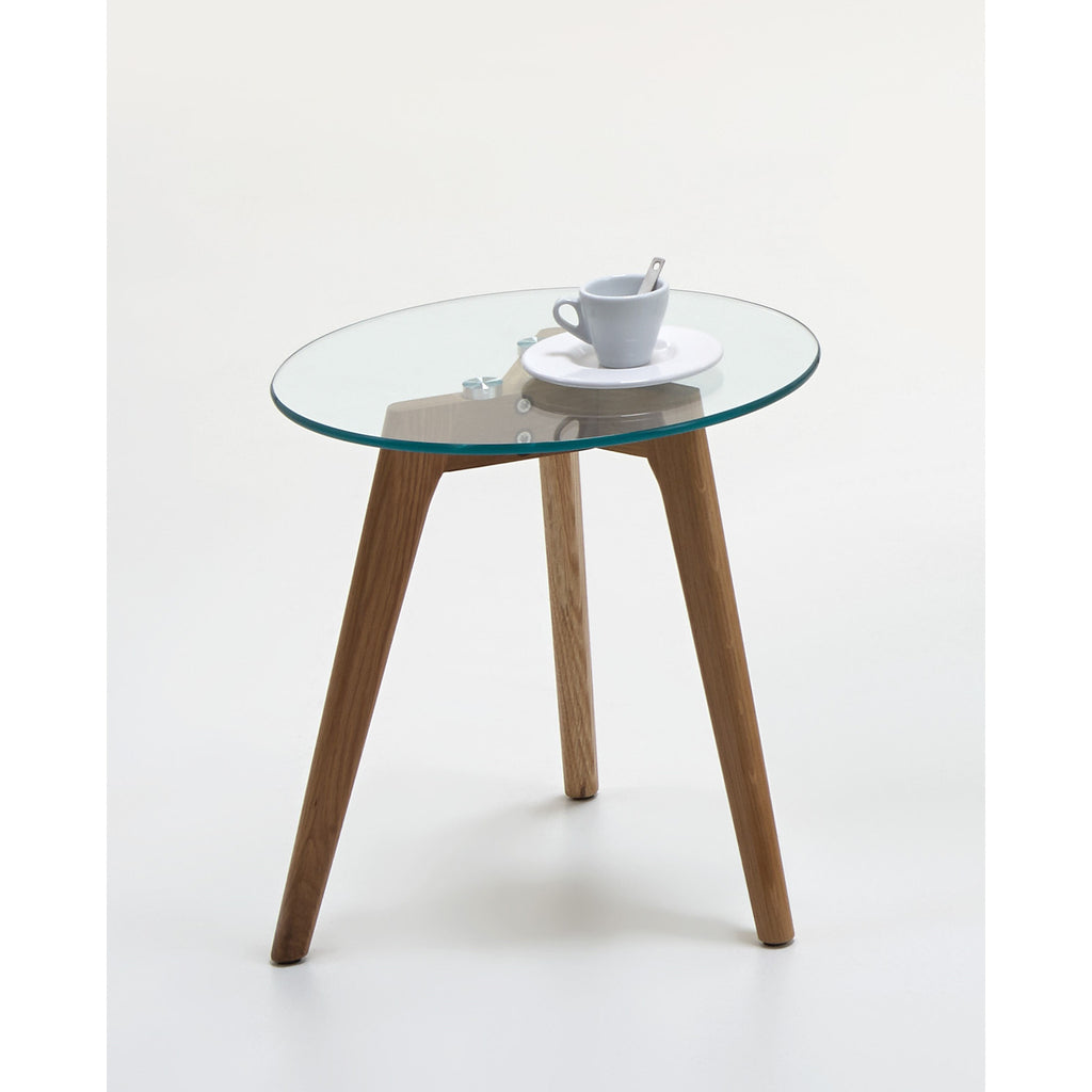 """California"" Scandinavian Style Coffee & End Table. Glass & Wood Tripod, [product_variation] - Freedom Homestore"
