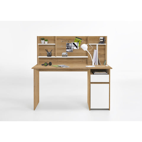 """Cambridge"" Computer Desk, PC Table. Antique Oak & White, [product_variation] - Freedom Homestore"