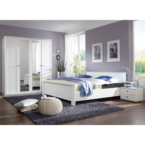ASSEMBLY INCLUDED Qmax 'Country' Range. German Bedroom Furniture. White Shaker Style
