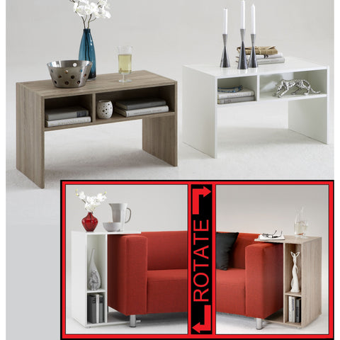 'Change' Rotating Bedside / End Table. Vertical or Horizontal Table.