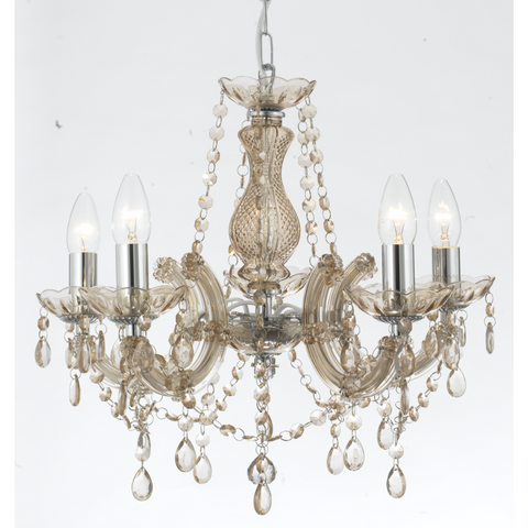 Marie Therese Glass 'Crystal' Chandelier Light Range - Acrylic Arms