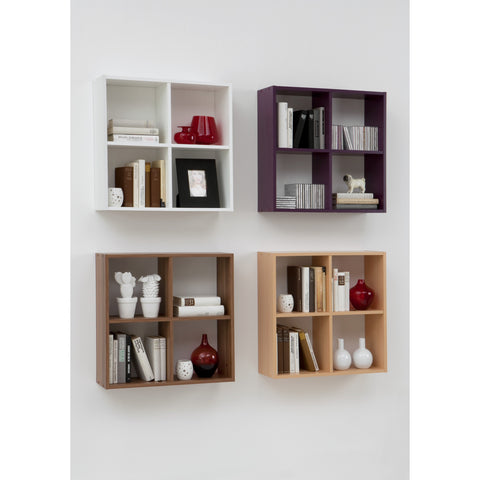 """Dori"" Squares Wall Shelf / Bookcase. Display Shelving Unit. Choice of Colour."