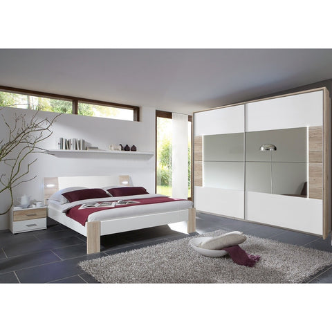 ASSEMBLY INCLUDED Qmax 'Town'. Integrated LED Lighting German Bedroom Furniture.