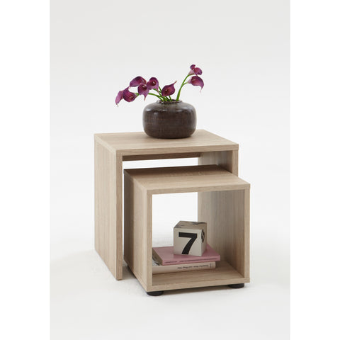 'Duo' Designer Bedsides / Nesting Tables. Wood Finish. Choice of Colour., [product_variation] - Freedom Homestore