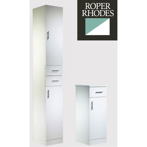 "*Clearance* Roper Rhodes ""Evolution"" Floor Standing Bathroom Cabinet. White"