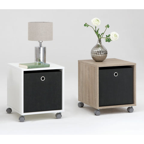 'Elisa' Basic Bedside / End Table with Removable Mega Canvas Box.