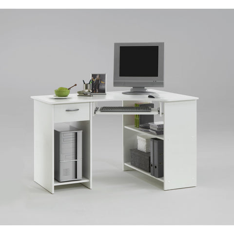 'Flick' Range of Corner Computer/PC Desks/Tables With Drawer & Storage