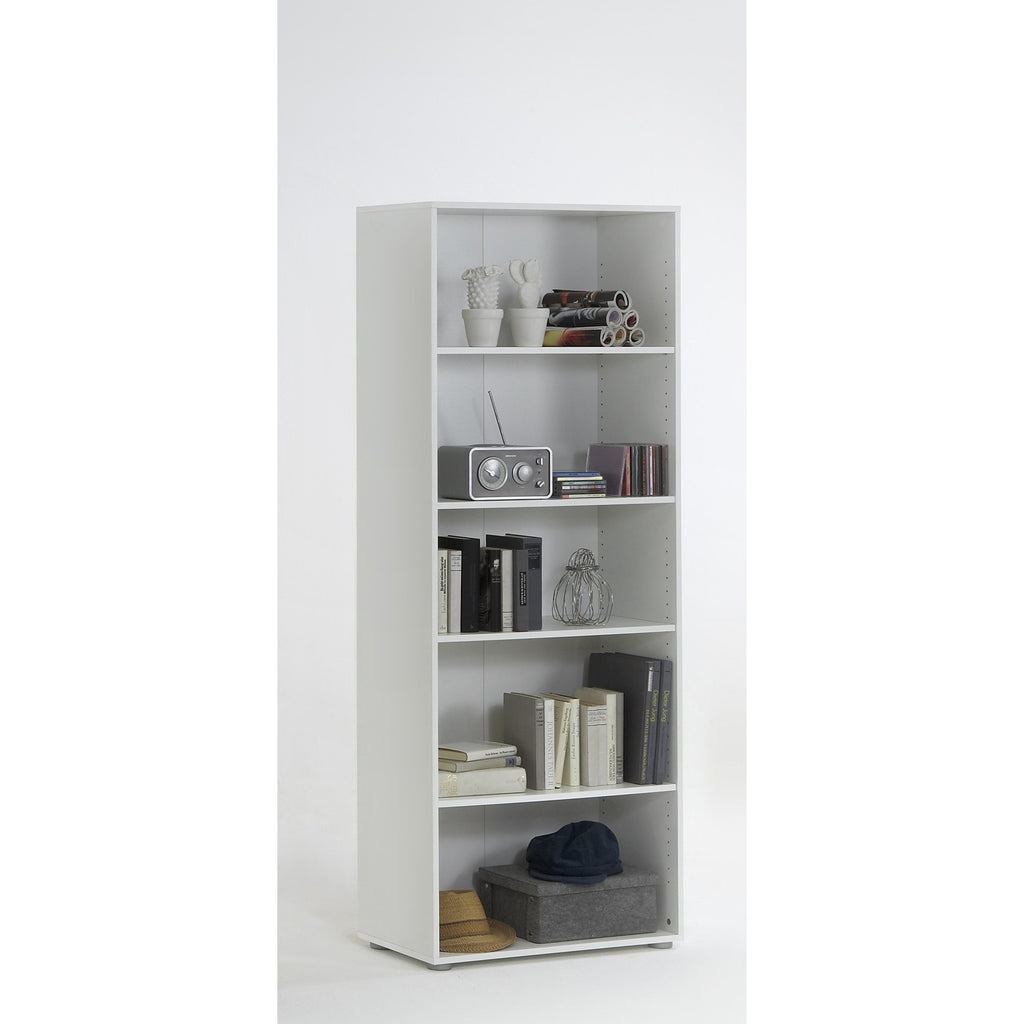 'Felix 4' White Bookcase / Shelving Cabinet, Adjustable Shelves., [product_variation] - Freedom Homestore