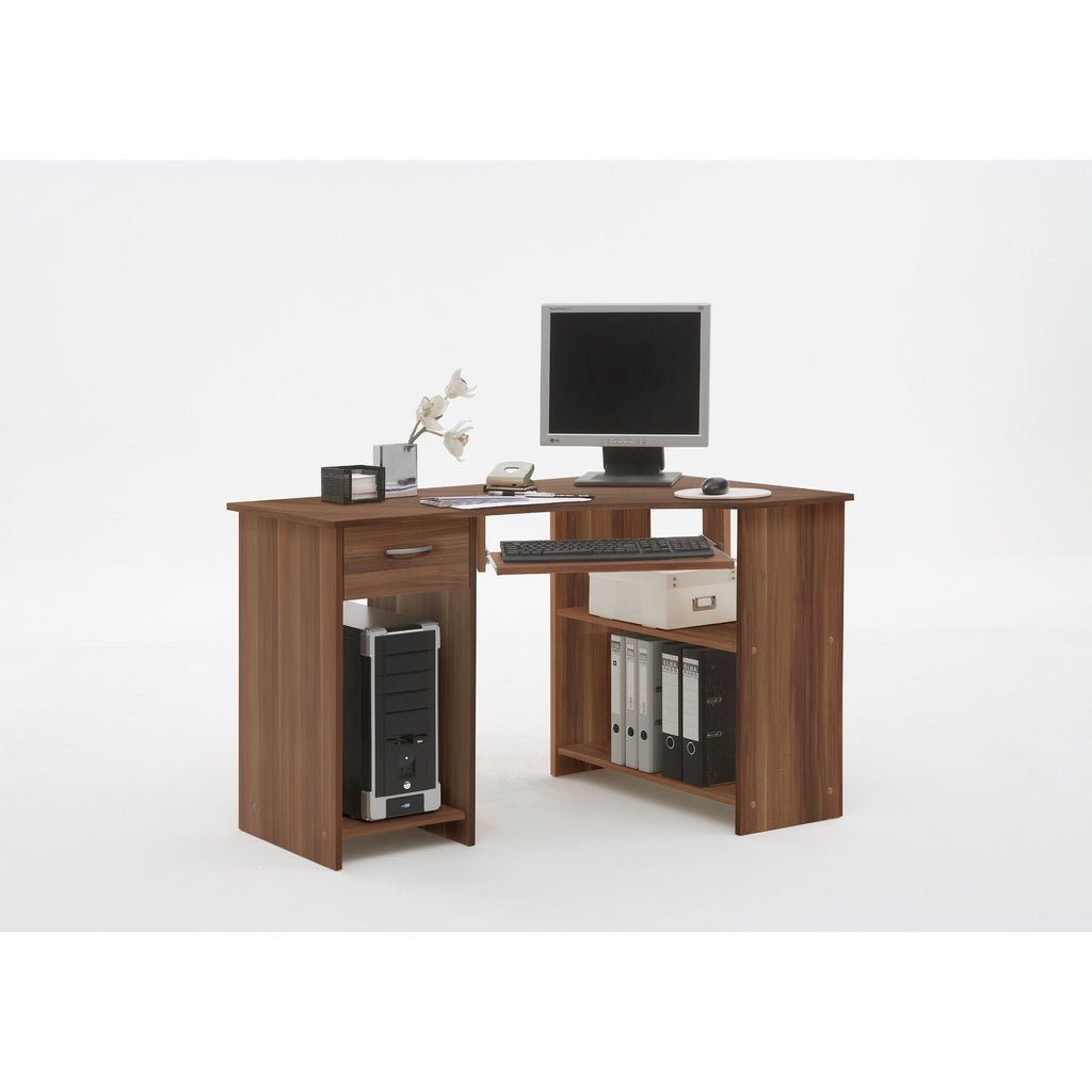 ASSEMBLY INCLUDED 'Flick' Corner Computer/PC Desks/Tables With Drawer & Storage, [product_variation] - Freedom Homestore