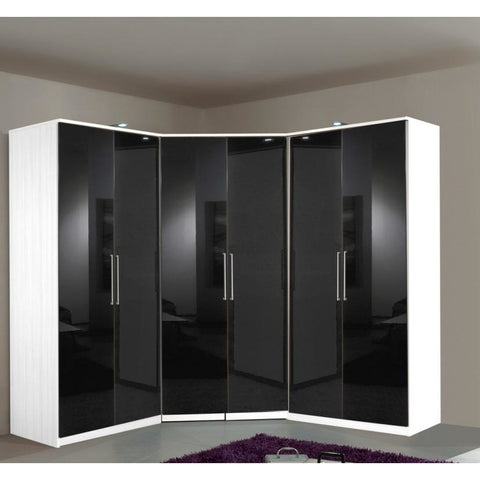 Qmax German Made Bedroom Furniture - Grande Wardrobe Range - Black/White, [product_variation] - Freedom Homestore