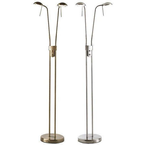 "Endon ""Hammersmith"" 2 Head / Twin Floor Standing Reading Lamp with Dimmers, [product_variation] - Freedom Homestore"