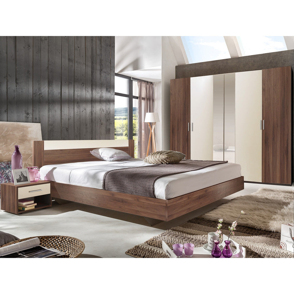 ASSEMBLY INCLUDED Qmax 'Liana' German Bedroom Furniture. Columbia Walnut Finish, [product_variation] - Freedom Homestore