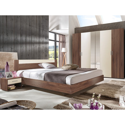 ASSEMBLY INCLUDED Qmax 'Liana' German Bedroom Furniture. Columbia Walnut Finish