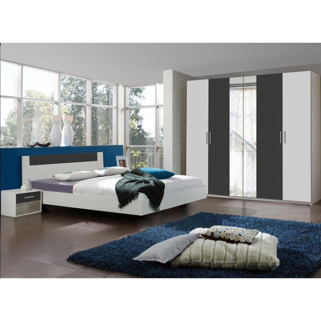 Qmax 'Liana' Range, German Made Bedroom Furniture. White & Anthracite Finish, [product_variation] - Freedom Homestore