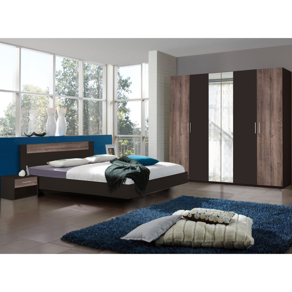 ASSEMBLY INCLUDED Qmax 'Liana' German Bedroom Furniture. Lava & Muddy Oak Finish., [product_variation] - Freedom Homestore