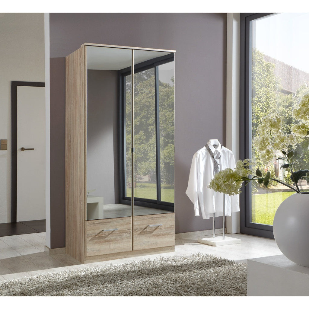 ASSEMBLY INCLUDED Qmax 'Imagine' German Bedroom Furniture. Oak & Mirror, [product_variation] - Freedom Homestore