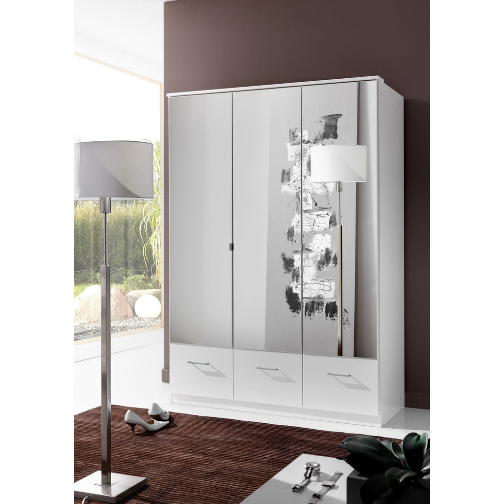 ASSEMBLY INCLUDED Qmax 'Imagine' German Bedroom Furniture. Alpine White & Mirror, [product_variation] - Freedom Homestore