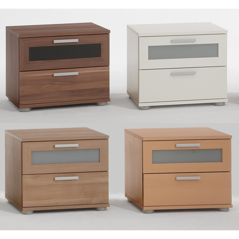 'Jack' Designer Bedside / End Table Range. Wood Finish. Choice of Colour.