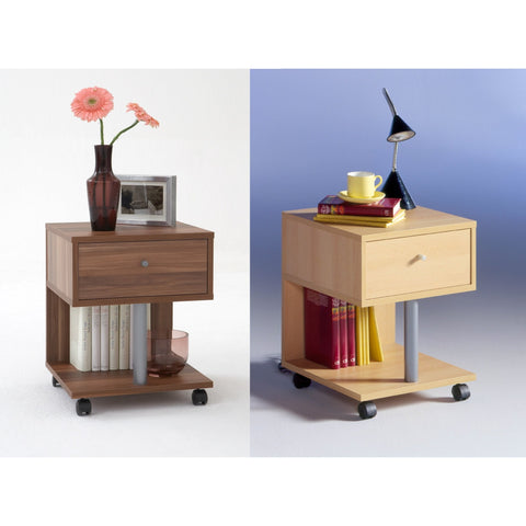 'Jango Plus' Designer Bedside / End Table Range. Wood Finish. Choice of Colour.