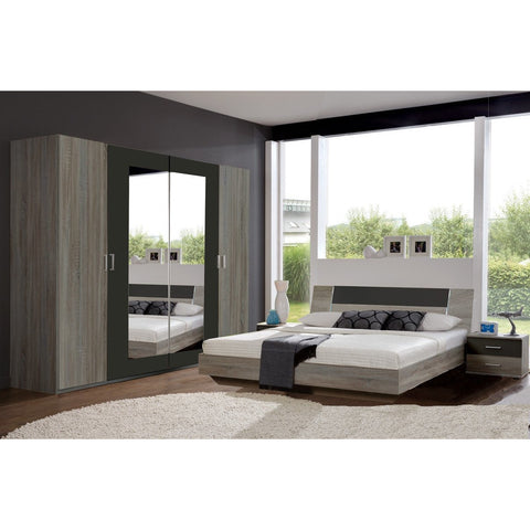 Qmax 'Genie' Range German Made Bedroom Furniture. Lava Brown on Dark Oak., [product_variation] - Freedom Homestore