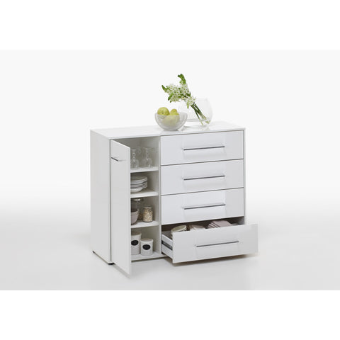 """Juli"" High Gloss White Minimalist Design Chest of Drawers / Sideboard Range, [product_variation] - Freedom Homestore"