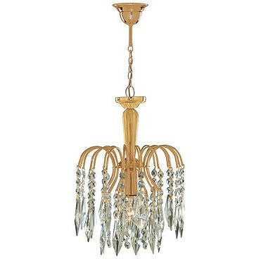 "Searchlight ""Waterfall"" Gold Finish & Crystal Drop Marie Therese Chandelier Lights, [product_variation] - Freedom Homestore"