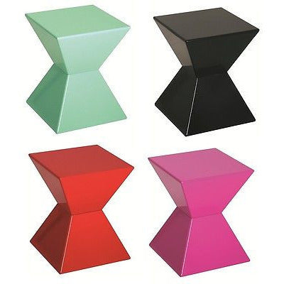 Lovely Edge Funky Colourful High Gloss Lacquered Side/End Tables   Glass Optional