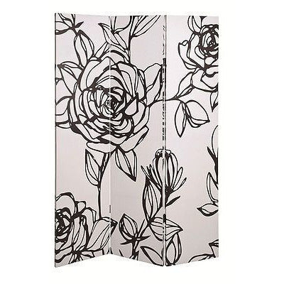 Fantasy Flower 3-Pane Canvas Art Room Divider / Privacy Screen., [product_variation] - Freedom Homestore