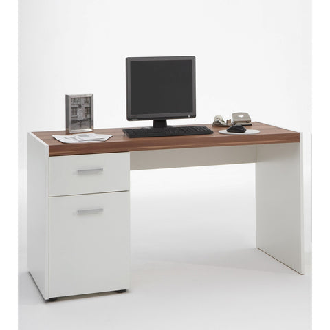 'Lena' Computer Table / PC Desk With Drawer & Storage. Flat Wall Fit.