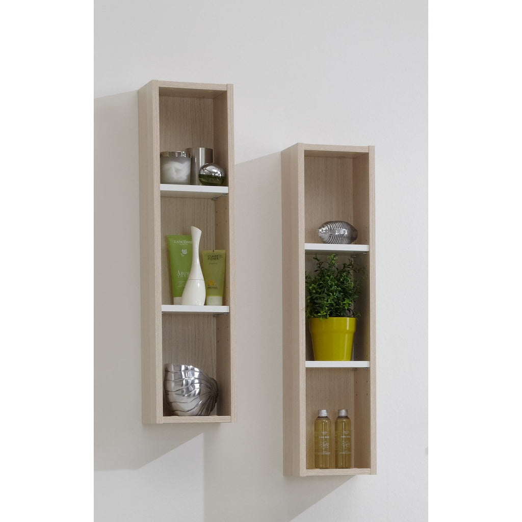 'Lerida' Matching Bathroom Units / Suite. White & Ash Tree Finish, [product_variation] - Freedom Homestore